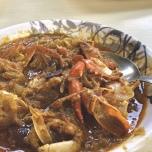 インドの蟹カレー