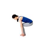 腰を落としてから腕を上げると2ステップに。