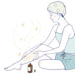タイミングはいつでもOKですが、体が温かく肌に水分があるほうが、スキンケア効果も高いといわれています。