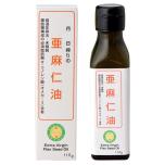 国内搾油亜麻仁油110g¥1,111/エヌ・ビー・アール(☎03-3526-6272)