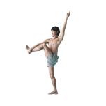 骨盤を真っすぐに立て、左膝を少しずつ伸ばしていく。