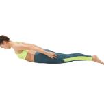 お尻や脚に力を入れずに、背筋で上体を起こす。