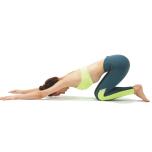 膝をつき、背骨と首が反ったり丸まったりしない位置でキープ。