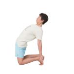 [体に働きかけ心を整えるヨガキネシセラピー]ウシュトラーサナのアレンジで大胸筋胸肋部を伸ばす