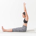 骨盤から頭頂を引き上げて太腿と腸腰筋を鍛えるのNG例