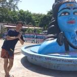 ハリドワール駅前のシヴァ神像