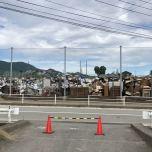 水害による大量の粗大ゴミ