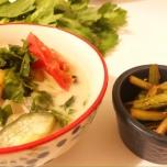 セロリの葉入りスープ、セロリのきんぴら