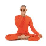 右の鼻孔を親指で押さえて閉じ、左の鼻孔から4秒かけて息を吸う。左の鼻孔を薬指と小指で閉じて6秒間息を止める。右の鼻孔を開いて8秒かけて息を吐く。
