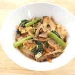 小松菜と重ね煮の卵とじ