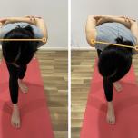 体側を強く伸ばすポーズ肩の位置