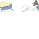 背骨の隙間を広げるストレッチ