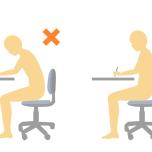 正しい座り姿勢